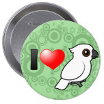 I Love Umbrella Cockatoos Button