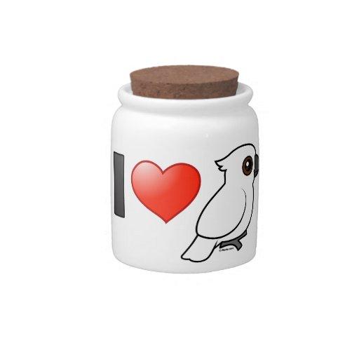 I Love Umbrella Cockatoos Candy Jars