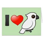 I Love Umbrella Cockatoos Greeting Card