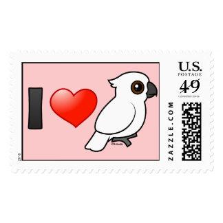 I Love Umbrella Cockatoos Postage Stamp