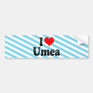 I Love Umea, Sweden Bumper Stickers