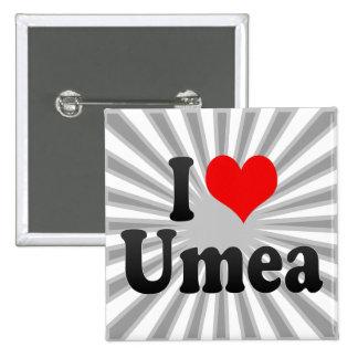 I Love Umea, Sweden Pins