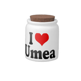 I Love Umea, Sweden Candy Jars