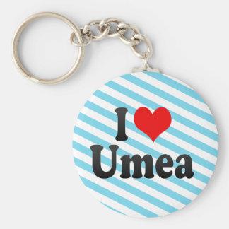 I Love Umea, Sweden Keychains