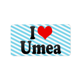 I Love Umea, Sweden Personalized Address Labels