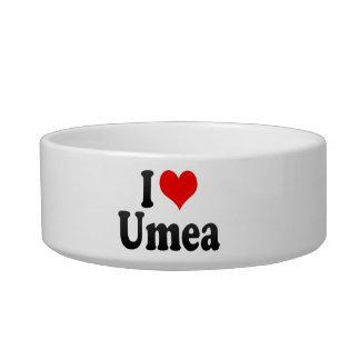 I Love Umea, Sweden Cat Bowls