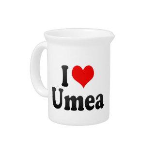 I Love Umea, Sweden Beverage Pitchers