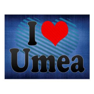 I Love Umea, Sweden Postcard