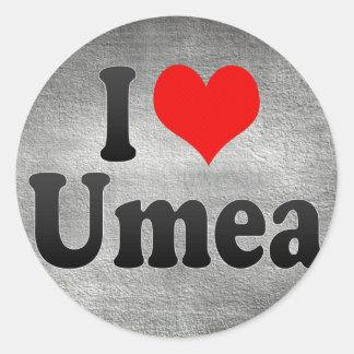 I Love Umea, Sweden Sticker