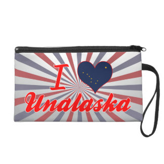 I Love Unalaska, Alaska Wristlet Clutch