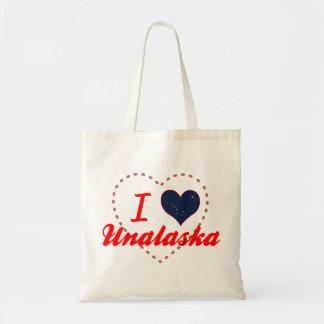 I Love Unalaska, Alaska Canvas Bag