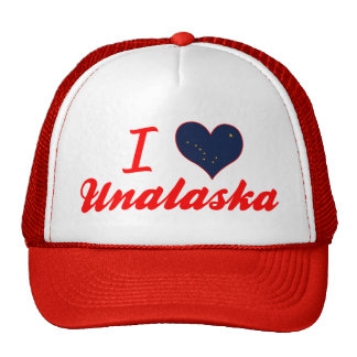 I Love Unalaska Alaska Hats