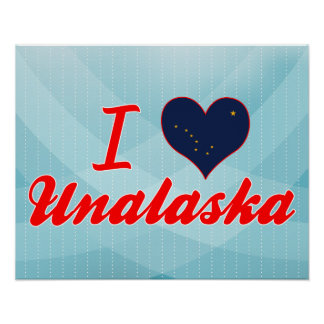 I Love Unalaska, Alaska Print