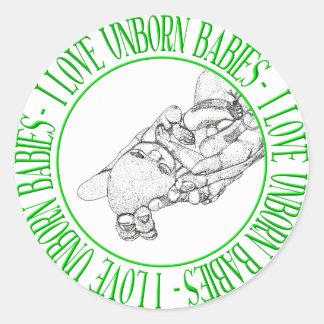 I love unborn babies stickers