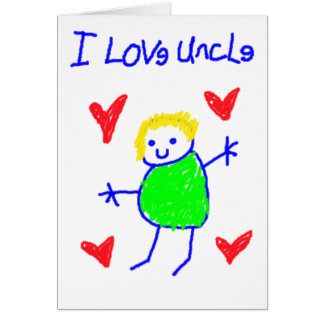 I Love Uncle Greeting Card