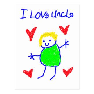 I Love Uncle Postcard