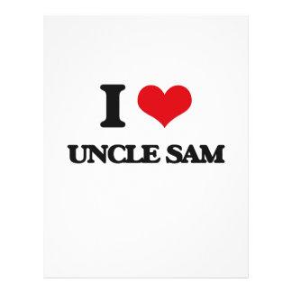"I love Uncle Sam 8.5"" X 11"" Flyer"