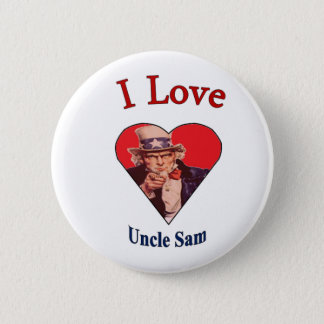 I Love Uncle Sam Pinback Button