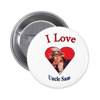 I Love Uncle Sam Pinback Button