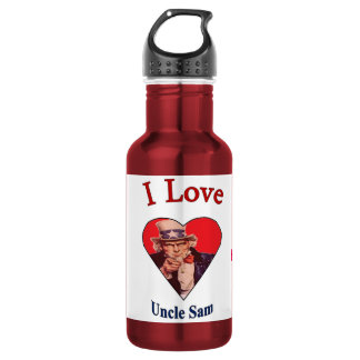 """I Love Uncle Sam"" Stainless Steel Water Bottle"
