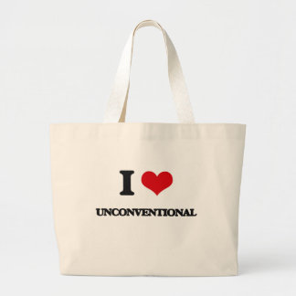 I love Unconventional Jumbo Tote Bag