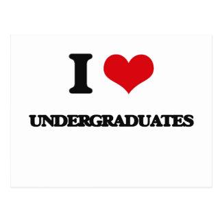 I love Undergraduates Postcard