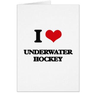 I Love Underwater Hockey Greeting Card