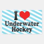 I love Underwater Hockey Rectangular Sticker