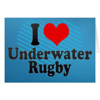 I love Underwater Rugby Cards