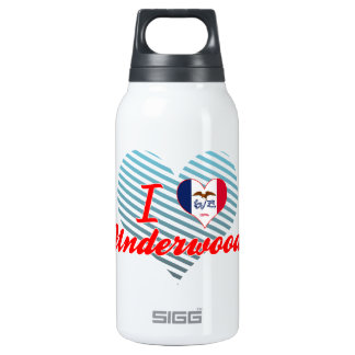 I Love Underwood, Iowa 10 Oz Insulated SIGG Thermos Water Bottle