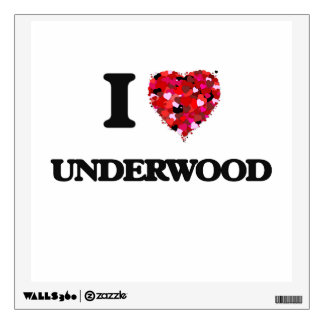 I Love Underwood Room Decal