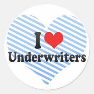 I Love Underwriters Sticker