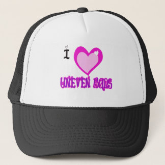 I LOVE Uneven Bars Trucker Hat