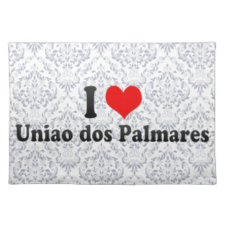 I Love Uniao dos Palmares, Brazil Placemats