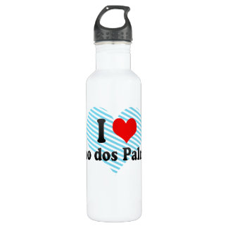 I Love Uniao dos Palmares, Brazil Water Bottle