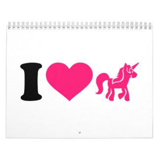 I love unicorn calendar