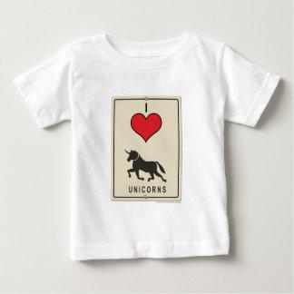 I Love Unicorns Baby T-Shirt