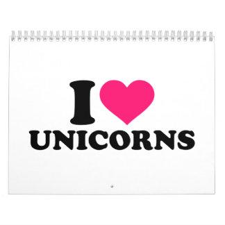 I love unicorns calendar