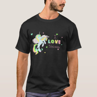I LOVE UNICORNS CUTE SHIRT Unicorn pegasus shirt