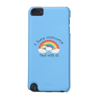 I love unicorns deal with it blue iPod touch 5G cover