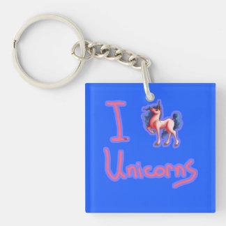 i love unicorns keychain