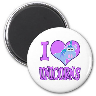 I Love unicorns Fridge Magnet