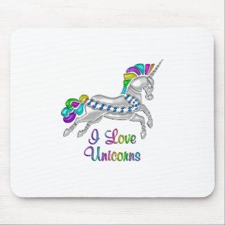 I Love Unicorns Mouse Pad