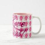 I Love Unicorns - pink Two-Tone Coffee Mug