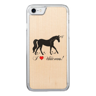 I Love Unicorns with Stars in Silhouette Carved iPhone 8/7 Case