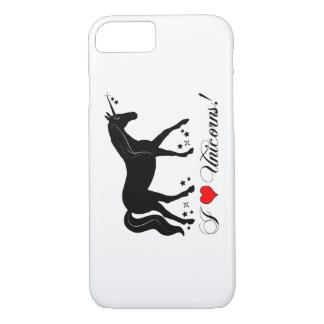 I Love Unicorns with Stars in Silhouette iPhone 8/7 Case