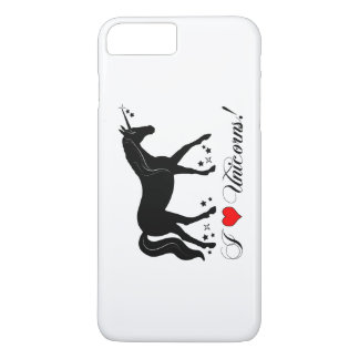 I Love Unicorns with Stars in Silhouette iPhone 8 Plus/7 Plus Case