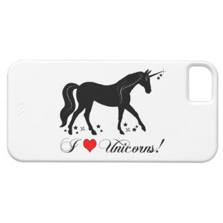 I Love Unicorns with Stars in Silhouette iPhone SE/5/5s Case