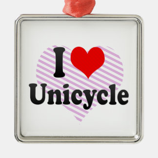 I love Unicycle Christmas Ornament
