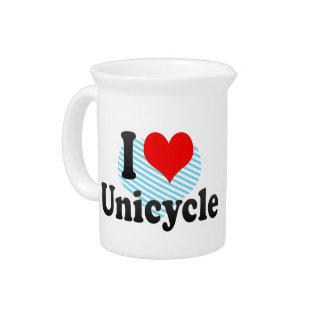 I love Unicycle Beverage Pitcher